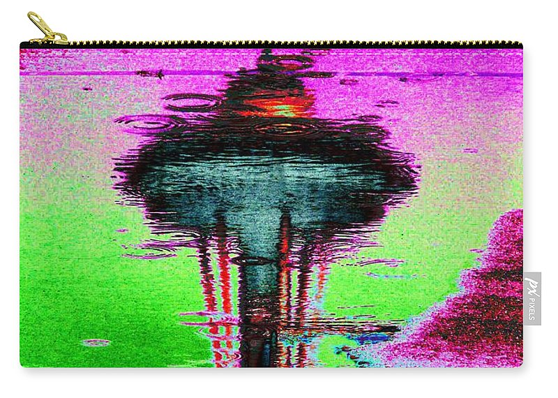 Seattle Carry-all Pouch featuring the digital art Needle In A Raindrop Stack by Tim Allen