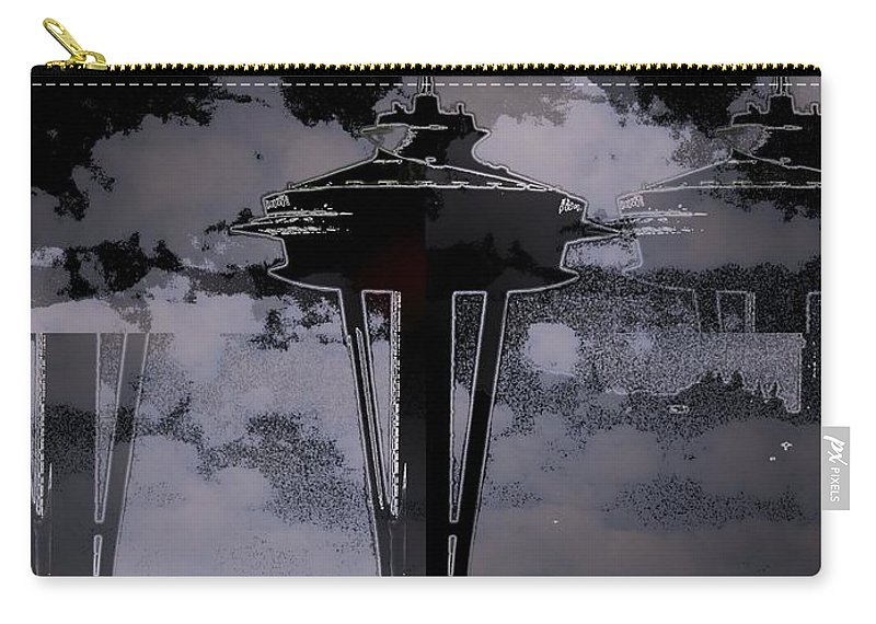 Seattle Carry-all Pouch featuring the digital art Needle In Flux by Tim Allen