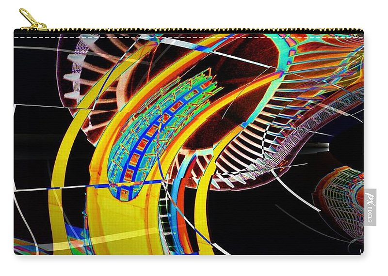 Seattle Carry-all Pouch featuring the photograph Needle In Fractal 4 by Tim Allen