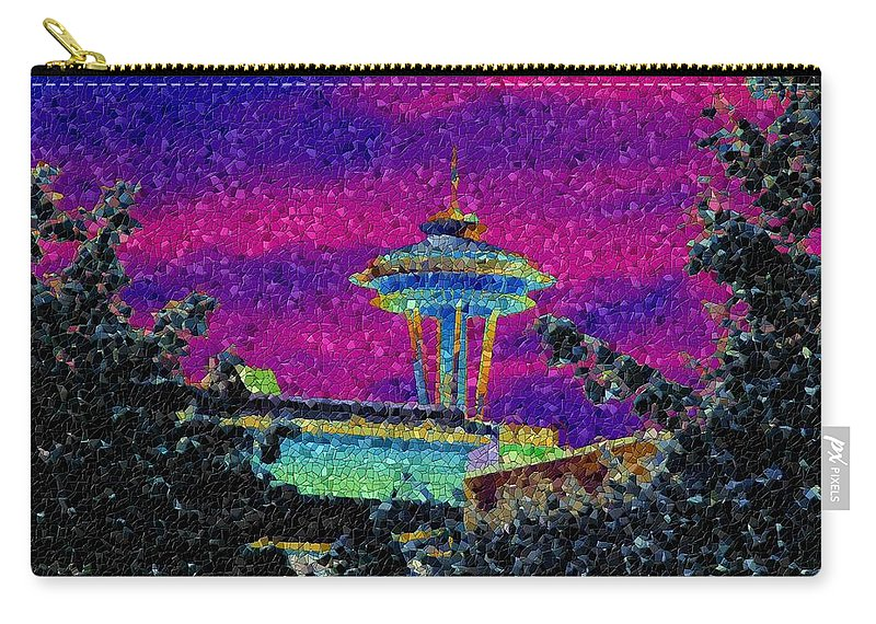 Seattle Carry-all Pouch featuring the photograph Needle In Mosaic 2 by Tim Allen