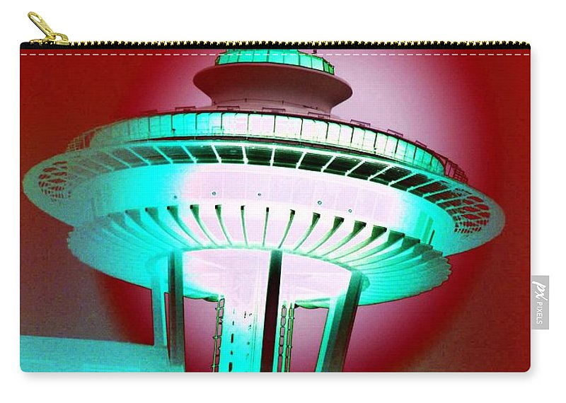 Seattle Carry-all Pouch featuring the photograph Needle In Red by Tim Allen