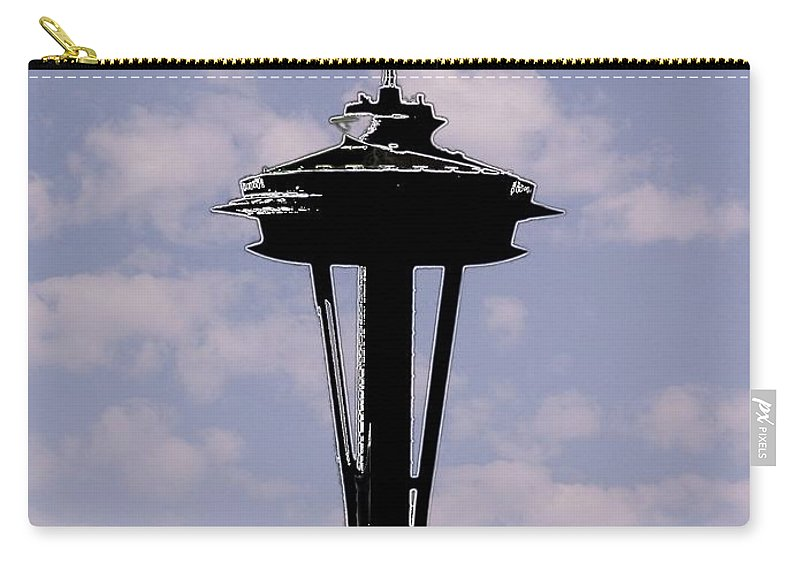 Seattle Carry-all Pouch featuring the digital art Needle In The Clouds by Tim Allen