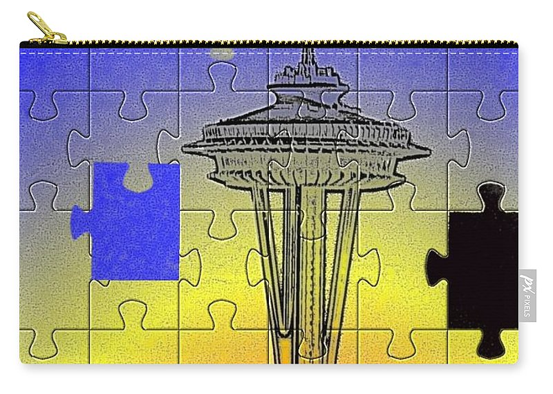 Seattle Carry-all Pouch featuring the photograph Needle Jigsaw by Tim Allen