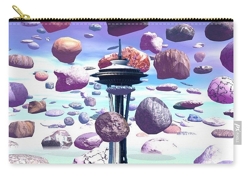 Seattle Carry-all Pouch featuring the photograph Needle Rocks by Tim Allen