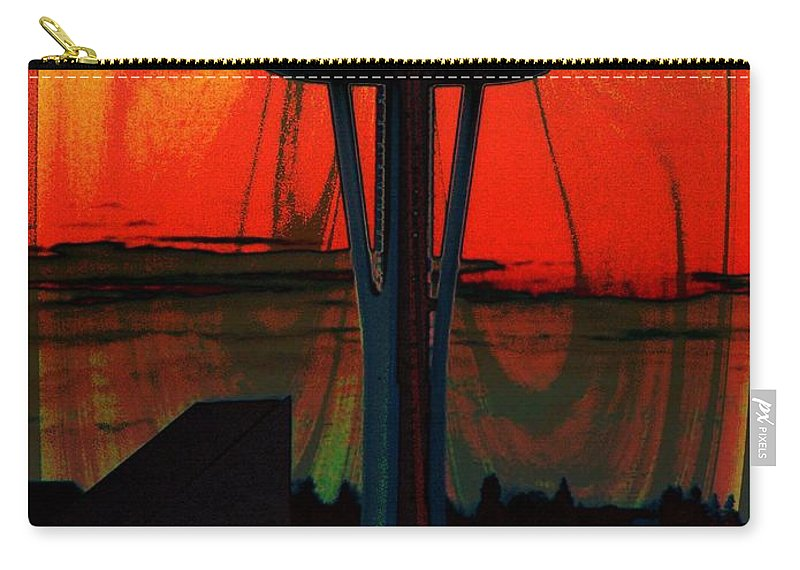 Seattle Carry-all Pouch featuring the photograph Needle Silhouette 3 by Tim Allen