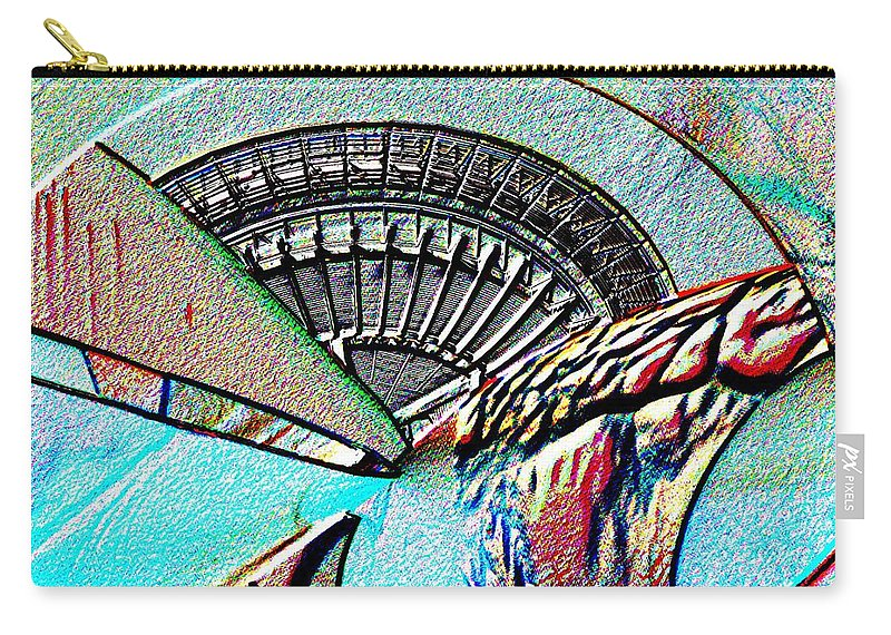 Seattle Carry-all Pouch featuring the digital art Needle Tubes by Tim Allen