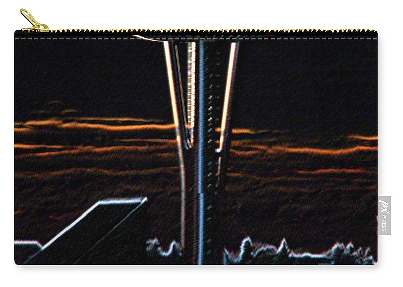 Seattle Carry-all Pouch featuring the photograph Needles Edge by Tim Allen