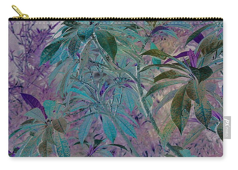 Assiniboine Park Conservatory Jungle Carry-all Pouch featuring the photograph Negative Jungle by Joanne Smoley