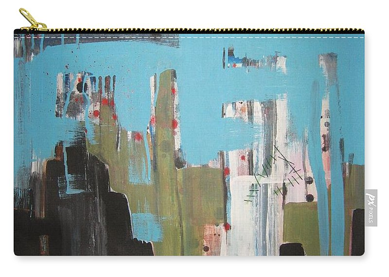 Abstract Paintings Carry-all Pouch featuring the painting Neglected Area by Seon-Jeong Kim