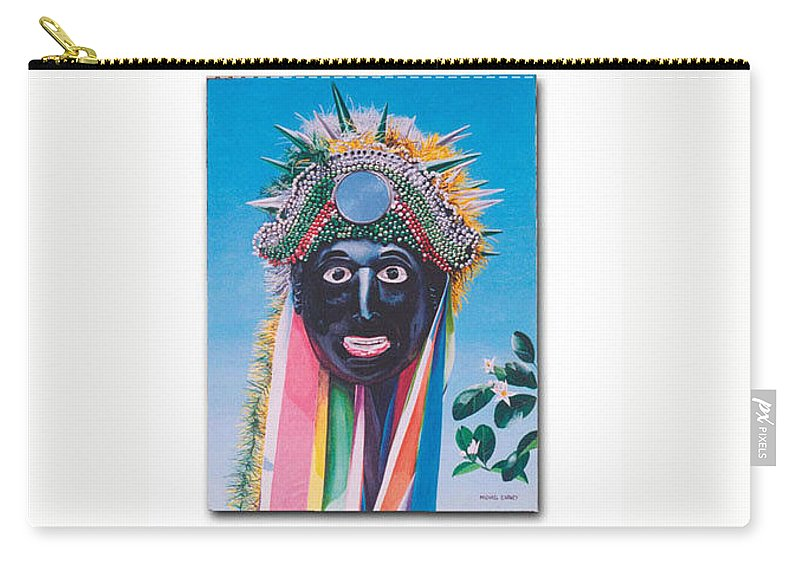 Michael Earney Carry-all Pouch featuring the painting Negrito Y Flor De Limon by Michael Earney