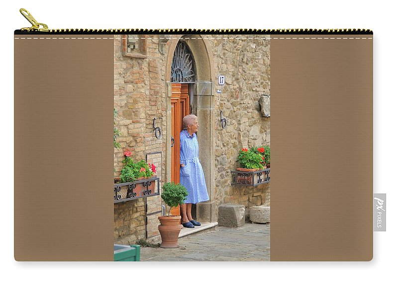 Italy Carry-all Pouch featuring the photograph Neighborhood Watch by Jim Benest