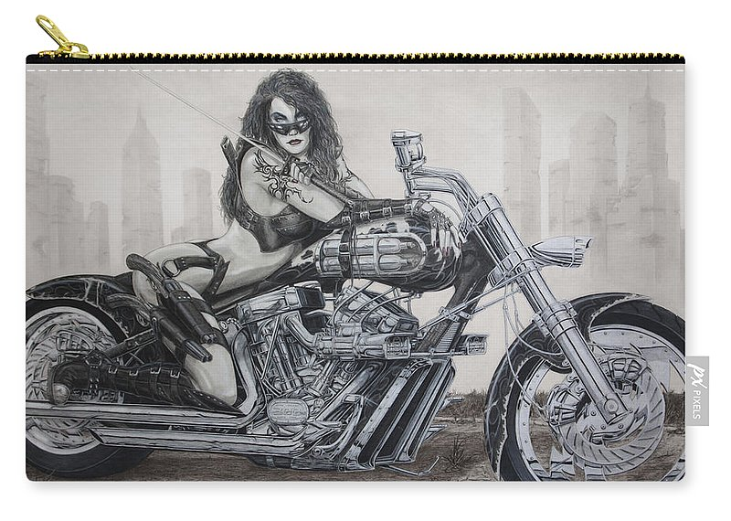 Bike Carry-all Pouch featuring the drawing Nemesis by Kristopher VonKaufman