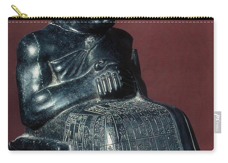 2150 B.c. Carry-all Pouch featuring the photograph Neo-sumerian Prince Gudea by Granger