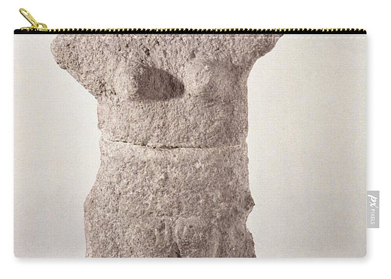 3500 B.c. Carry-all Pouch featuring the photograph Neolithic Figure by Granger