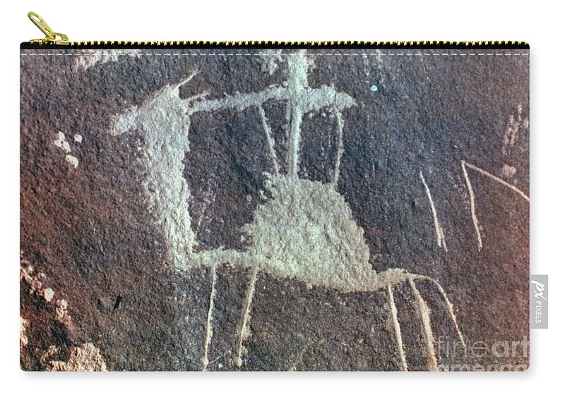 Camel Carry-all Pouch featuring the photograph Neolithic Petroglyph by Granger