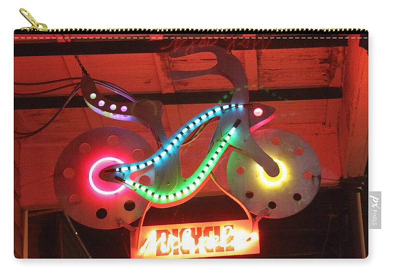 Bike Carry-all Pouch featuring the photograph Neon Bicycle by Lauri Novak