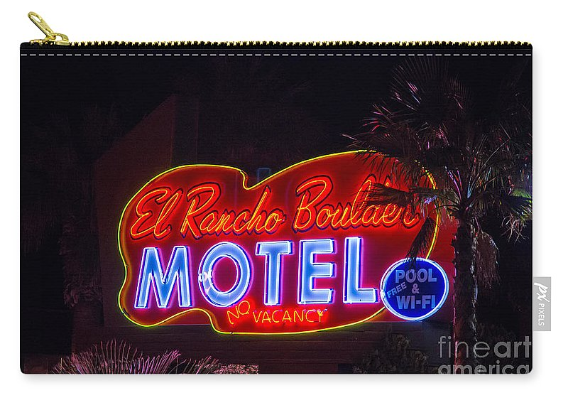 Boulder City Carry-all Pouch featuring the photograph Neon Sign by Stephen Whalen