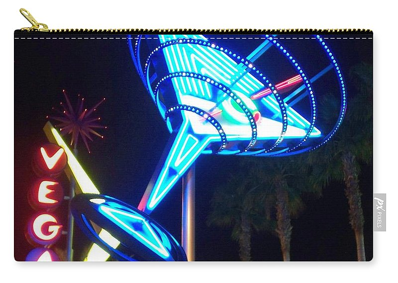 Vegas Carry-all Pouch featuring the photograph Neon Signs 1 by Anita Burgermeister