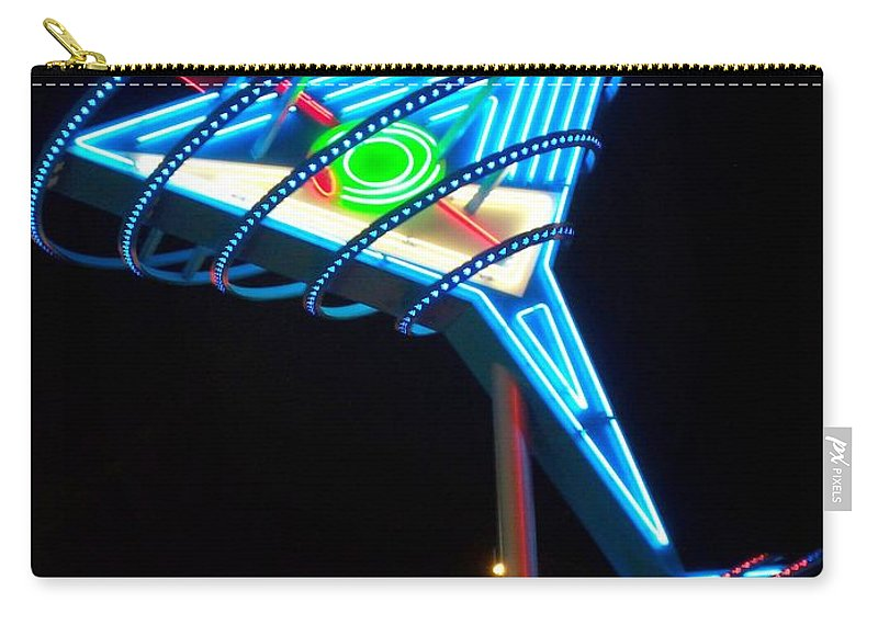 Fremont East Carry-all Pouch featuring the photograph Neon Signs 4 by Anita Burgermeister