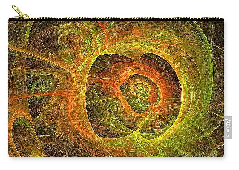 Fractal Abstract Carry-all Pouch featuring the digital art Angelic Script Y G O by Doug Morgan