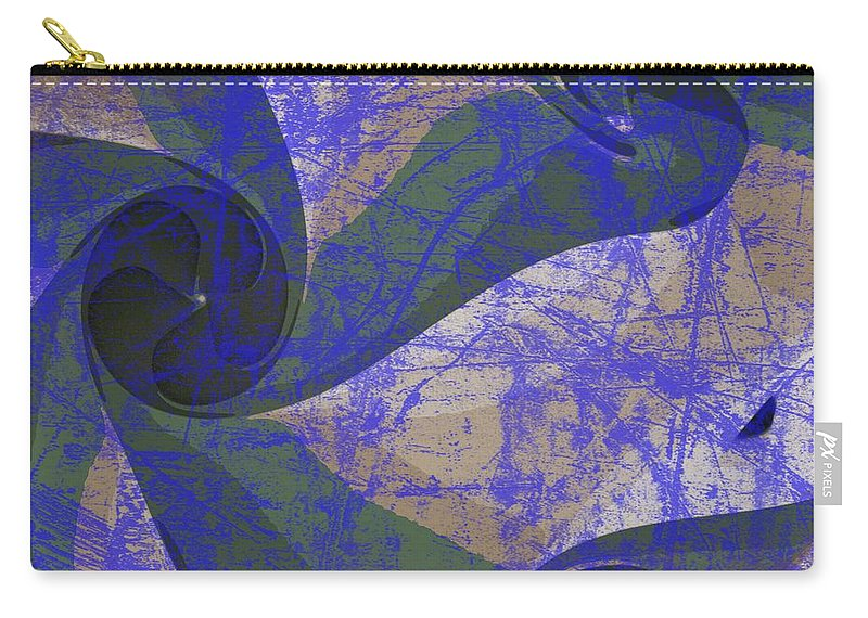 Blue Carry-all Pouch featuring the photograph Neptune Illuminations by Joan Reese