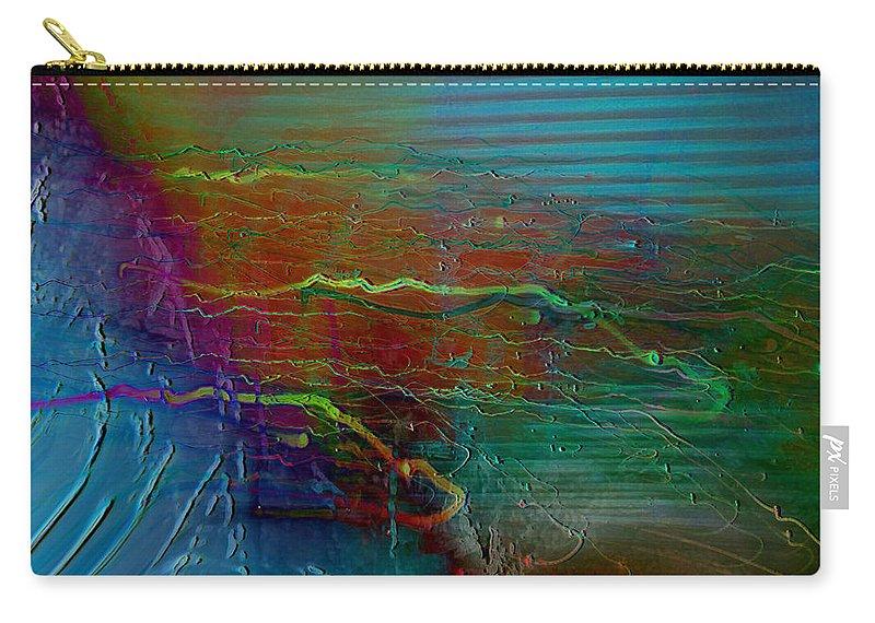 Abstarct Art Carry-all Pouch featuring the digital art Nerve Impulses by Linda Sannuti