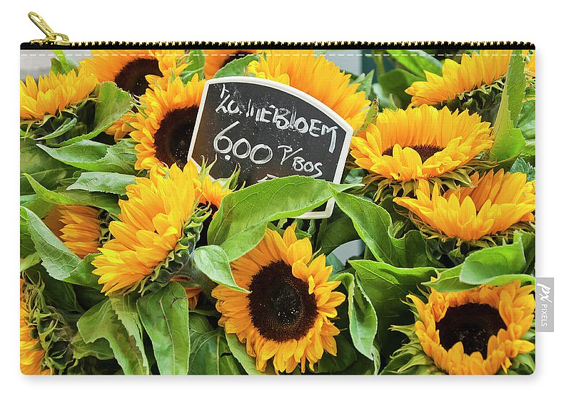 Abundance Carry-all Pouch featuring the photograph Netherlands Sunflowers by Joan Carroll