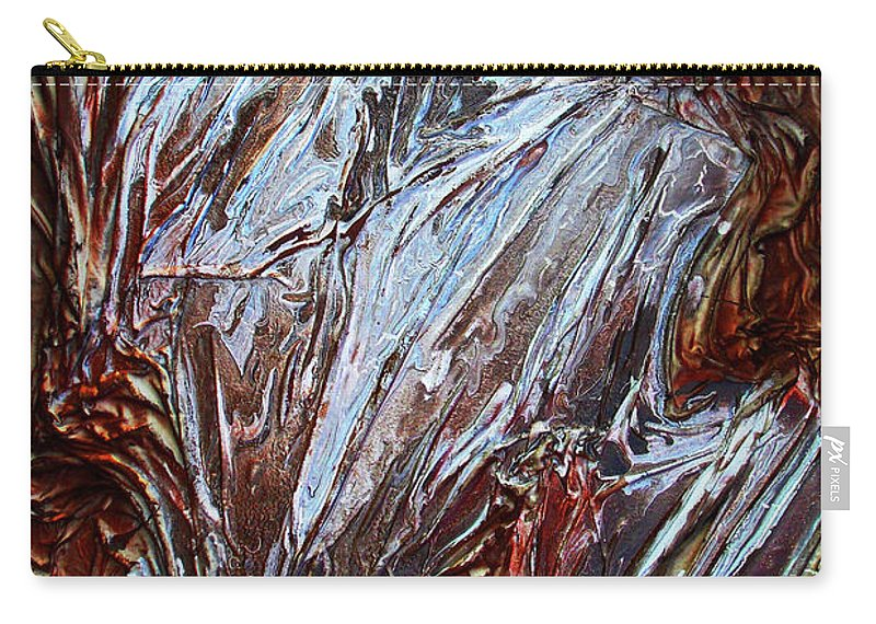Abstract Art Carry-all Pouch featuring the mixed media Neutral Colors by Angela Stout