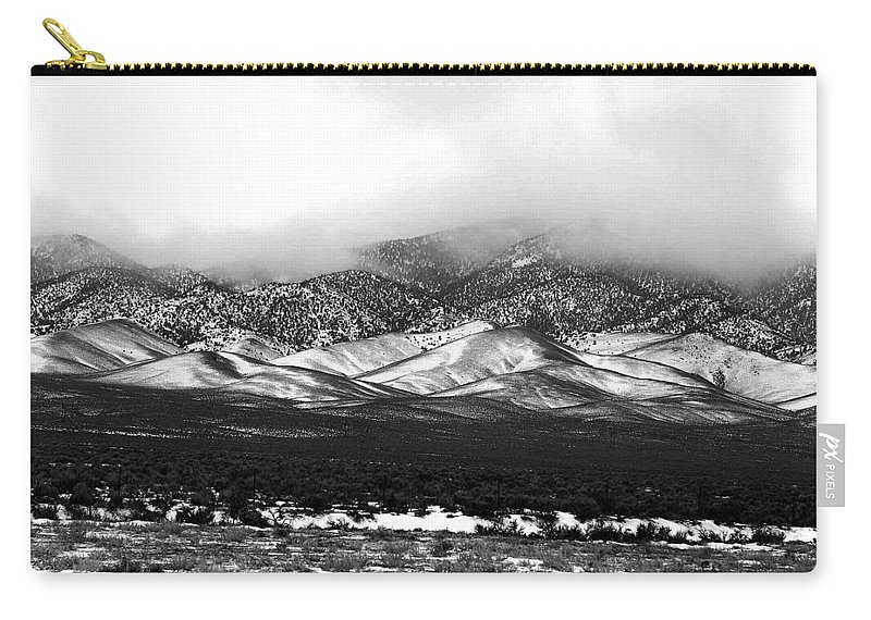 Snow Carry-all Pouch featuring the photograph Nevada Snow by Nelson Strong