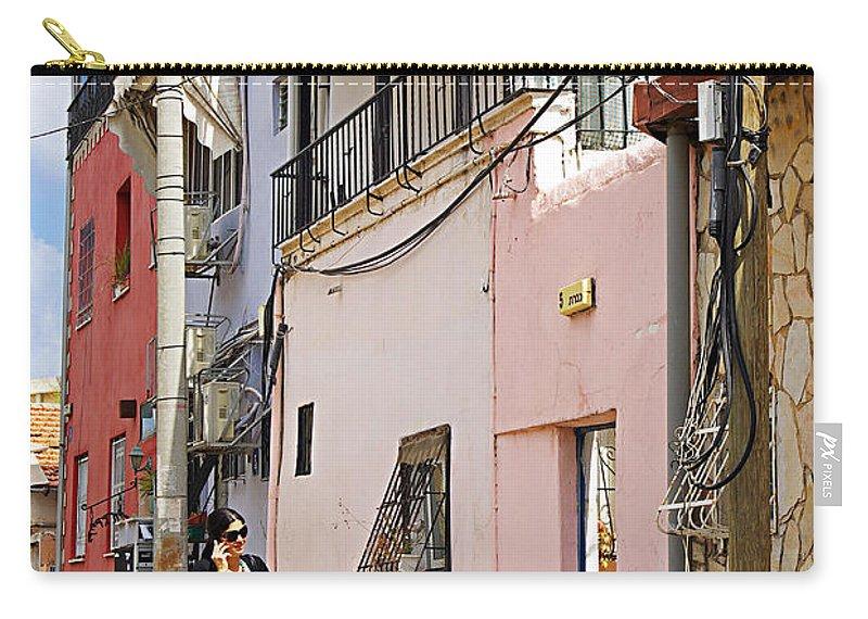 Neve Tzedek Carry-all Pouch featuring the photograph Neve Tzedek Neighborhood In Tel Aviv by Zal Latzkovich