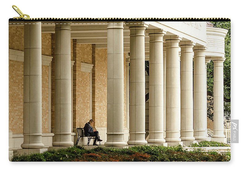 Tcu Carry-all Pouch featuring the photograph Never Alone At Tcu by Stephen Romay