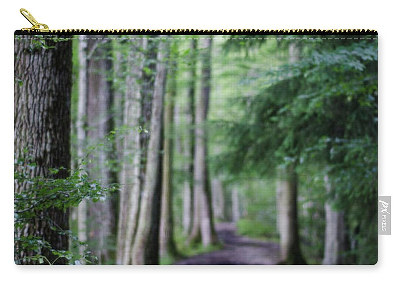 Winterpacht Carry-all Pouch featuring the photograph Never Ending Trail by Miguel Winterpacht