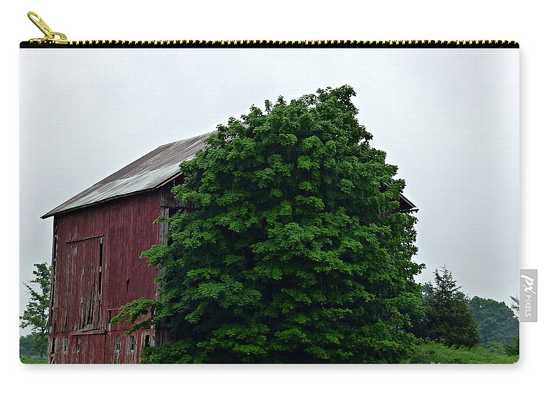 Barn Carry-all Pouch featuring the photograph Never Find Me Behind Here by Scott Ward