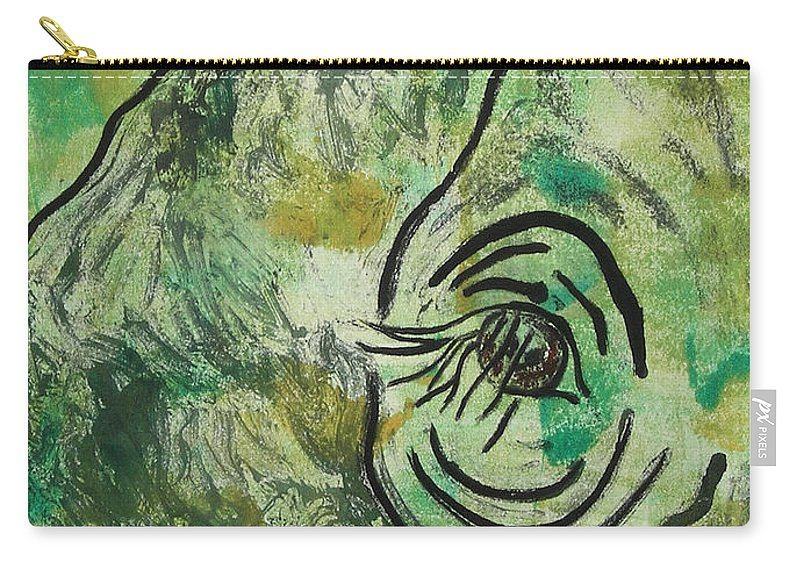 Monotype Carry-all Pouch featuring the mixed media Never Forgotten by Cori Solomon