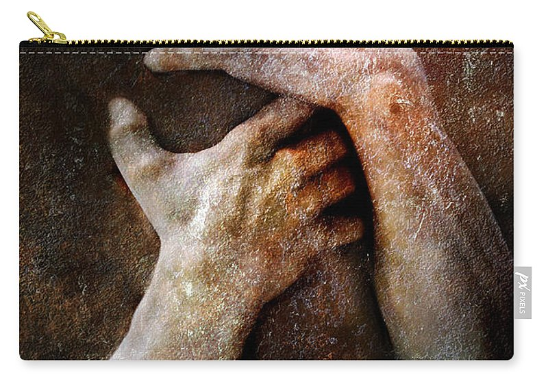 Photodream Carry-all Pouch featuring the photograph Never Let Go by Jacky Gerritsen