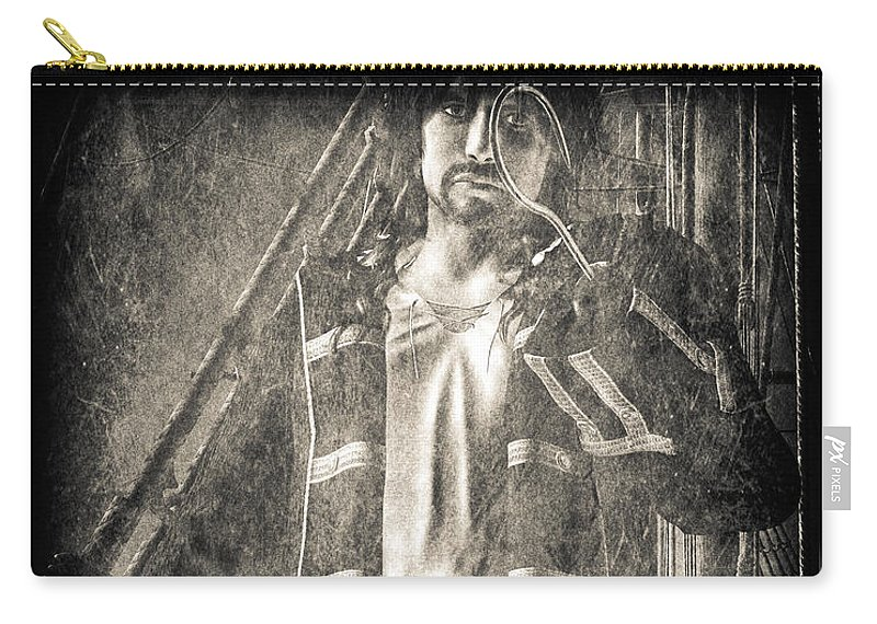 Hook Carry-all Pouch featuring the digital art Never Neverland Captain Hook by Bob Orsillo