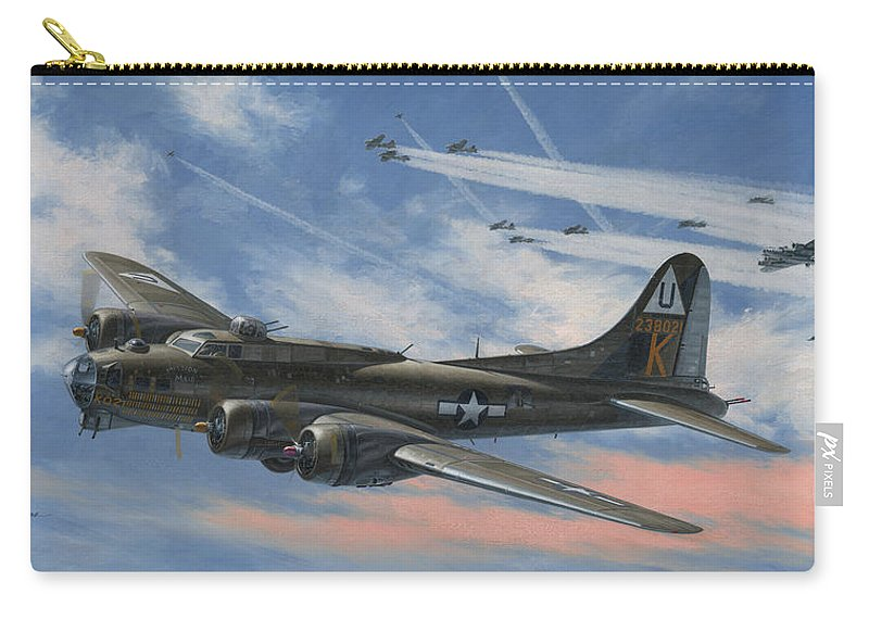 Boeing Carry-all Pouch featuring the painting Never Turned Back by Wade Meyers