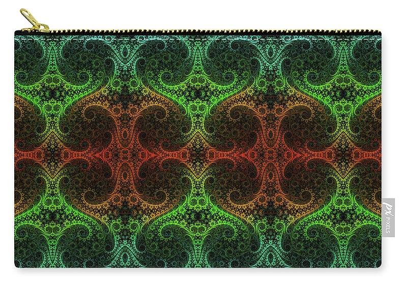 Fractal Carry-all Pouch featuring the digital art Neverending by Lorant Zsolt