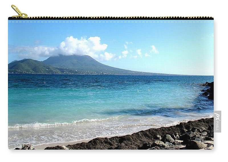 Nevis Carry-all Pouch featuring the photograph Nevis Across The Channel by Ian MacDonald