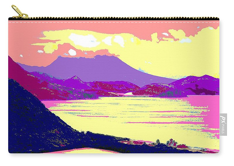 Nevis Carry-all Pouch featuring the photograph Nevis From The Penninsula by Ian MacDonald