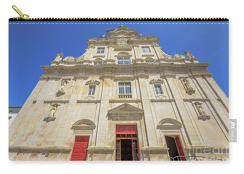 Coimbra Carry-all Pouch featuring the photograph New Cathedral Of Coimbra by Benny Marty