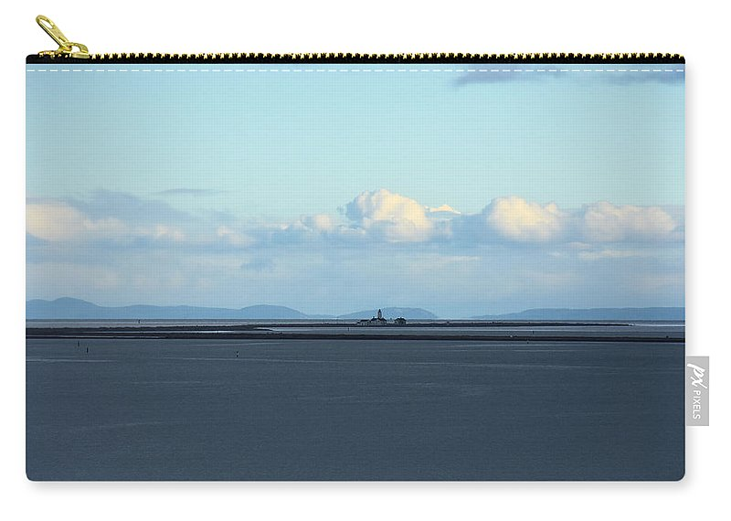 Lighthouse Carry-all Pouch featuring the photograph New Dungeness Lighthouse by Rich Bodane