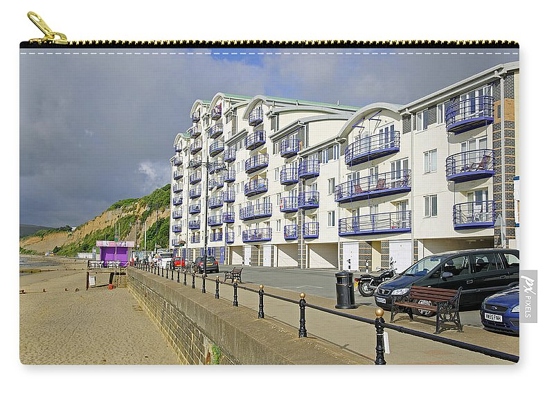 Isle Of Wight Carry-all Pouch featuring the photograph New Flats Overlooking Sandown Esplanade by Rod Johnson