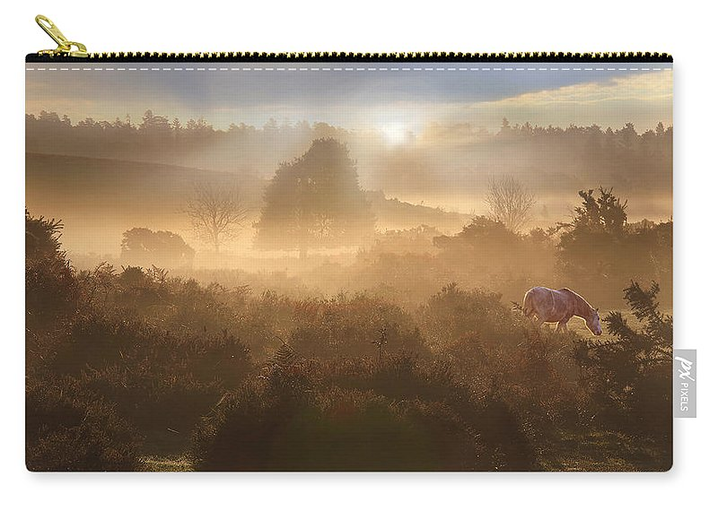 New Carry-all Pouch featuring the photograph New Forest Dawn by Ceri Jones