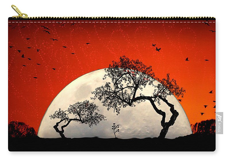 Moon Carry-all Pouch featuring the digital art New Growth New Hope by Holly Kempe