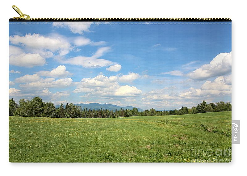Mountain And Sky Carry-all Pouch featuring the photograph New Hampshire Mountain Meadow by Neal Eslinger