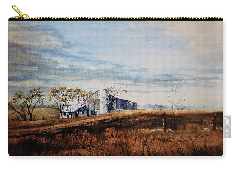 Farm Landscape Carry-all Pouch featuring the painting New Hope New Dreams by Hanne Lore Koehler