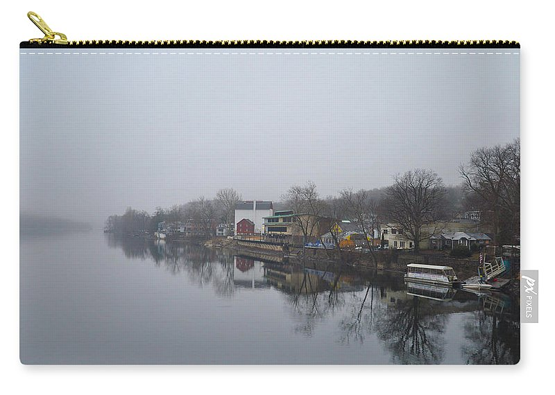 New Carry-all Pouch featuring the photograph New Hope River View On A Misty Day by Bill Cannon