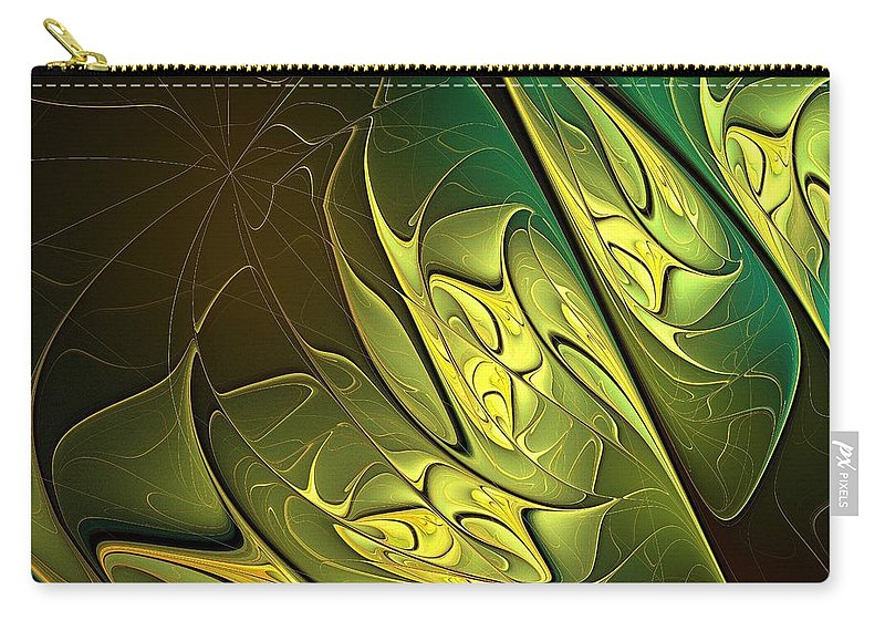 Digital Art Carry-all Pouch featuring the digital art New Leaves by Amanda Moore