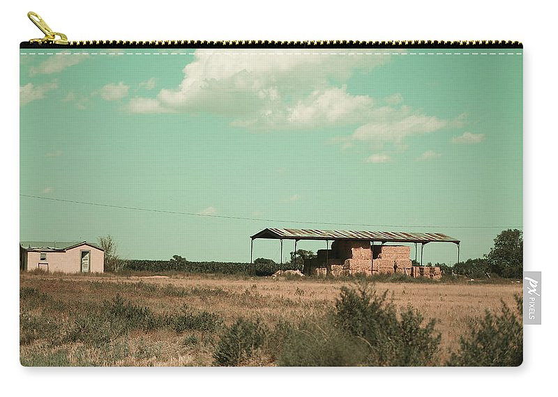 New Mexico Carry-all Pouch featuring the photograph New Mexico Farmland in Technicolor by Colleen Cornelius